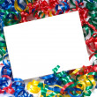 Curly ribbon Notecard — Stockfoto