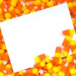Stock Photo: Candy Corn Notecard