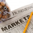 Investments Opportunity - Newspapers open to business related pa — Zdjęcie stockowe