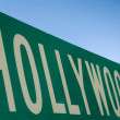 Hollywood street sign - Stock Photo