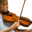 Young girl playing violin — Stock Photo