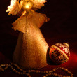 Christmas Angel and Decorations - Stock fotografie