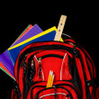 Red School Backpack — Stock Photo