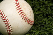 Baseball on Grass close up — Photo