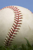 Baseball on Grass against blue sky — Stock fotografie