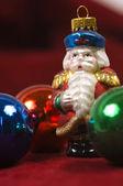 Christmas Ornaments- Crystal Santa Claus — Stock Photo