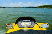 Personal watercraft on lake — Stock Photo