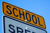 School Speed Limit sign — Stockfoto