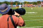 Professional Sports Photogapher - american football — Stock Photo