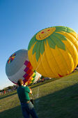 Hot Air Balloon launching — Stockfoto