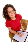 Business Assistant ready to take notes or dictation — Stock Photo
