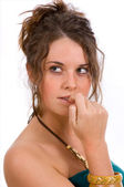 Expressions - nervous, concern — Stock Photo
