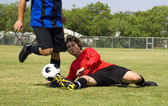 Football - Soccer - Tackle! — Stock Photo