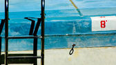 Empty swimming pool with ladder — Stock Photo