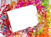Curly ribbon Notecard — Stock Photo