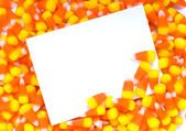 Candy Corn Notecard — Stock Photo