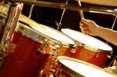 Drum Performance - music band — Stock Photo