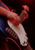 Electric Guitar Perfromance Bass - Music band — Stock Photo