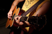 Guitar Acoustic - Music Band — Stock Photo