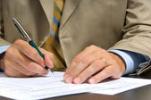 Business Man Signing — Stock Photo