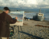 Painter in Santa Barbara — Stockfoto