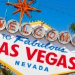 Welcome to Las Vegas Nevada sign on a sunny afternoon — Stock fotografie