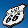 Royalty-Free Stock Photo: An old, nostalgic  sign on historic Route 66