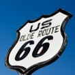 An old, nostalgic sign on historic Route 66 — Stock Photo #13988204