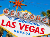 Welcome to Las Vegas Nevada sign on a sunny afternoon — Stock Photo