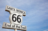 Route 66 sign in Santa Monica California — Stock Photo