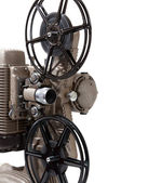 Close-up of a vintage movie projector on a white background — Stock Photo