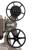 A vintage movie projector on a white background — Stok fotoğraf