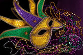 A Mardi gras jester — Stock Photo