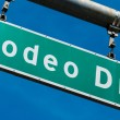 Stock Photo: Rodeo Drive Beverly Hills Street Sign