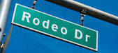 Rodeo Drive Beverly Hills Street Sign — Stock Photo