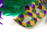 Mardi gras mask on a white background — Stock Photo