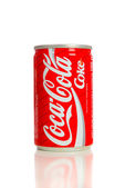 VIntage Coca-Cola Can on white — Stock Photo