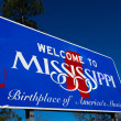 Welcome to Mississippi state Road sign — Stock Photo #28033727