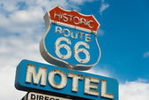 Signe motel historique route 66 en californie — Photo