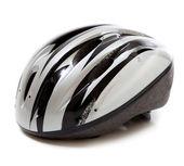 A gray bike helmet on a white background — Stock Photo