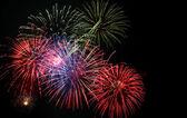 4 juli vuurwerk — Stockfoto