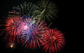 4th of July fireworks display — Stock Photo