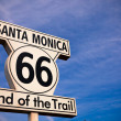 Historic Route 66 Santa Monica sign — Zdjęcie stockowe