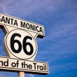 Historic Route 66 Santa Monica sign — Stockfoto