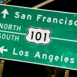 A green US 101 North South highway sign — Stock Photo
