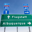 US Interstate I-40 road sign in Arizona — Stock Photo #41155149
