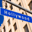 Blue Hollywood Street sign — Stock Photo #41526073