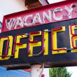 Stock Photo: Vintage neon vacancy office sign