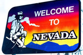 Welcome to Nevada state border sign — Stock fotografie