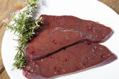 Beef liver — Stock Photo